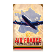 """Air France"" Vintage Metal Sign Pasttime Signs"