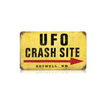 """""""UFO Crash Site"""" Vintage Metal Sign Pasttime Signs"""
