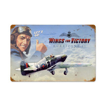 """Wings For Victory"" Vintage Metal Sign Pasttime Signs"
