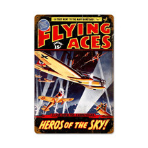 """Flying Aces"" Vintage Metal Sign Pasttime Signs"