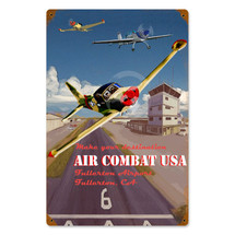 """Air Combat"" Vintage Metal Sign Pasttime Signs"