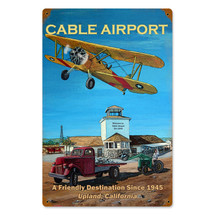 """Cable Airport"" Vintage Metal Sign Pasttime Signs"
