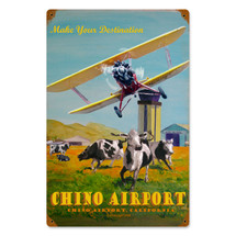 """Chino Airport"" Vintage Metal Sign Pasttime Signs"