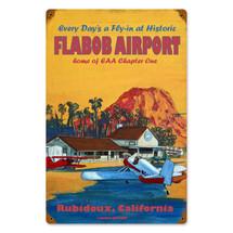 """Flabob Airport"" Vintage Metal Sign Pasttime Signs"