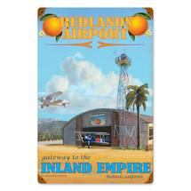 """""""Redlands Airport"""" Vintage Metal Sign Pasttime Signs"""