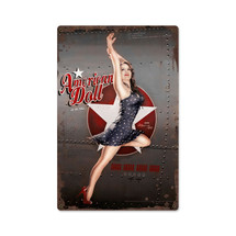 American Doll Metal Sign Pasttime Signs