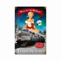 Christmas Train Vintage Metal Sign Pasttime Signs