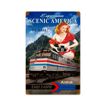 Scenic America Vintage Metal Sign Pasttime Signs