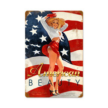 American Beauty Vintage Metal Sign Pasttime Signs