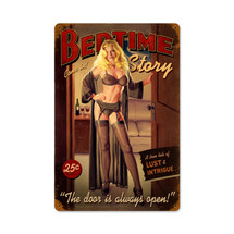 Bedtime Story Vintage Metal Sign Pasttime Signs