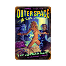 Alien Abduction Vintage Metal Sign Pasttime Signs