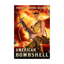 American Bombshell Metal Sign Pasttime Signs