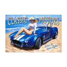 Classic Motors Metal Sign Pasttime Signs