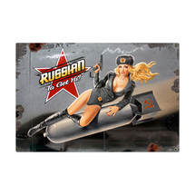 Russian Nose Art Metal Sign Pasttime Signs