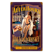 After Hours Scotch Vintage Metal Sign Pasttime Signs