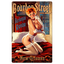 Bourbon Street Metal Sign Pasttime Signs