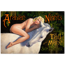 Arabian Nights Metal Sign Pasttime Signs