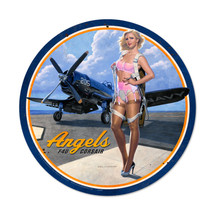 Angels Corsair Round Metal Sign Pasttime Signs