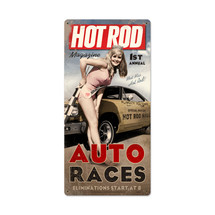 Auto Races Metal Sign Pasttime Signs