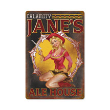 Calamity Jane Vintage Metal Sign Pasttime Signs