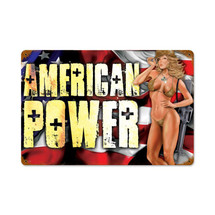 American Power Pinup Vintage Metal Sign Pasttime Signs