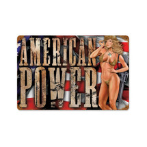 American Power Vintage Metal Sign Pasttime Signs