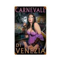 Carnivale di Venezia Vintage Metal Sign Pasttime Signs