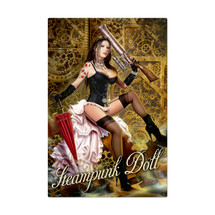 Steampunk Doll Metal Sign Pasttime Signs