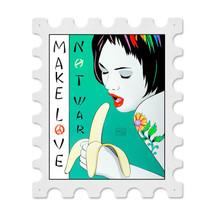 Banana Postage Stamp Stamp Metal Sign Pasttime Signs