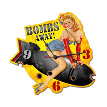 Bombs Away Custom Metal Shape Pasttime Signs