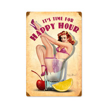 Happy Hour Vintage Metal Sign Pasttime Signs