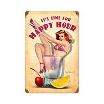 Happy Hour Vintage Metal Sign Pasttime Signs