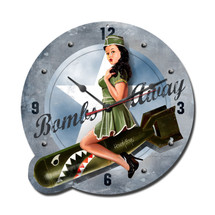 Bombs Away Custom Metal Shape Pasttime Signs PT-RB036