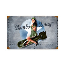 Bombs Away Vintage Metal Sign Pasttime Signs