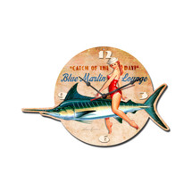 Blue Marlin Lounge Custom Metal Shape Pasttime Signs