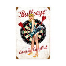 Bullseye Vintage Metal Sign Pasttime Signs