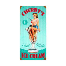 Cherry's Ice Cream Vintage Metal Sign Pasttime Signs