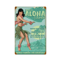 Aloha Bettie Vintage Metal Sign Pasttime Signs