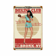Boxing Bettie Vintage Metal Sign Pasttime Signs