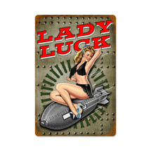 Lucky Lady Vintage Metal Sign Pasttime Signs