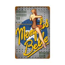 Memphis Nose Art Vintage Metal Sign Pasttime Signs
