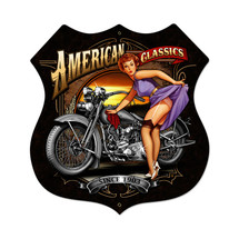 American Classics Shield Metal Sign Pasttime Signs