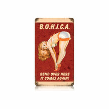 BOHICA Vintage Metal Sign Pasttime Signs