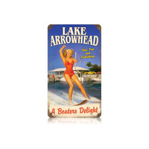 Lake Arrowhead Vintage Metal Sign Pasttime Signs