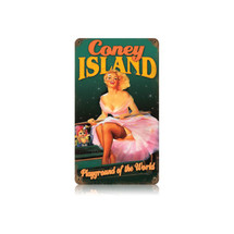 Coney Island Vintage Metal Sign Pasttime Signs