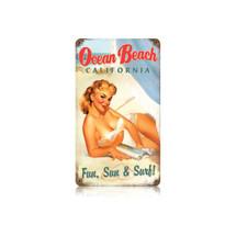 Ocean Beach Vintage Metal Sign Pasttime Signs
