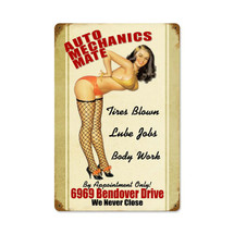Auto Mechanics Mate Vintage Metal Sign Pasttime Signs