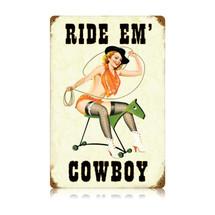 Ride Em Cowboy Vintage Metal Sign Pasttime Signs