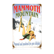 Mammoth Mountain Vintage Metal Sign Pasttime Signs PT-V456