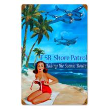 Shore Patrol Vintage Metal Sign Pasttime Signs